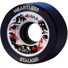 Load image into Gallery viewer, Bladeworx Roller Skate Wheels Stalker Black 59mm 88a Heartless 59mm x 38mm Wheels