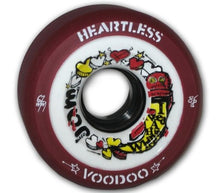 Load image into Gallery viewer, Bladeworx Roller Skate Wheels Voodoo Maroon 59mm 86a Heartless 59mm x 38mm Wheels