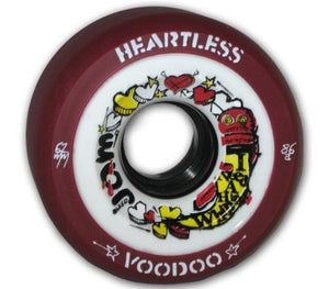 Bladeworx Roller Skate Wheels Voodoo Maroon 59mm 86a Heartless 59mm x 38mm Wheels