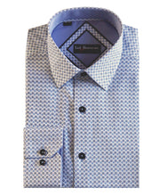 Load image into Gallery viewer, Lief Horsens Blue Dot Dress Shirt