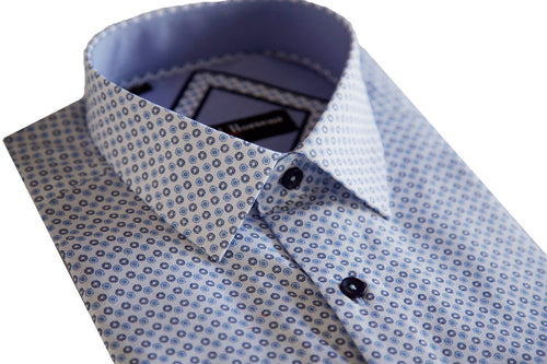 Lief Horsens Blue Dot Dress Shirt