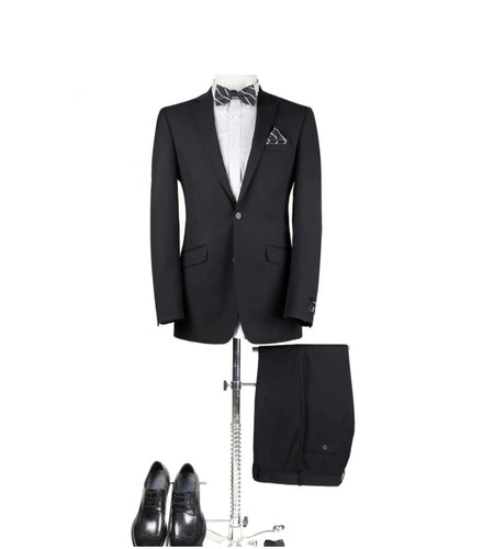 Men's Black 2 Piece Slim Fit Suit