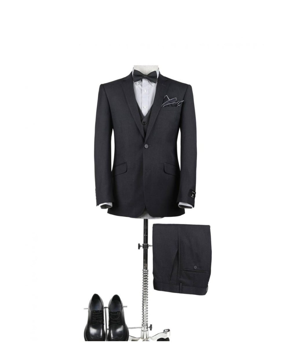 Men's Charcoal 2 Piece Slim Fit Suit