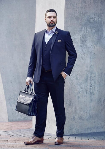 Men's Navy 2 Piece Slim Fit Suit