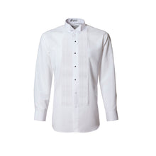 Load image into Gallery viewer, Men's White 1/4 Pleated Wing Collar