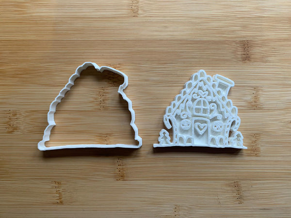 Santa's House Christmas cookie cutter + stamp