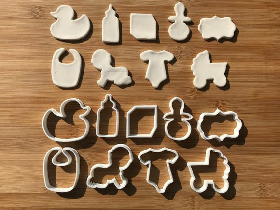 9pcs Baby-Shower Cookie Cutters