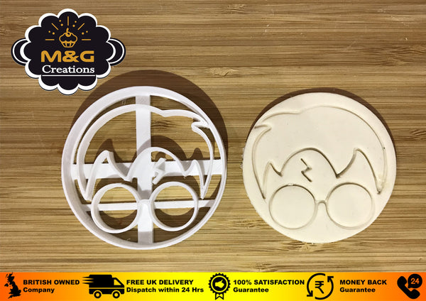 Harry Potter-inspired round face Plastic Cookie Cutter Topper Fondant uk seller