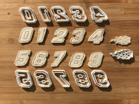 One 1 Racing Number Digit Cookie Cutter Dough Biscuit Pastry Fondant Sharp