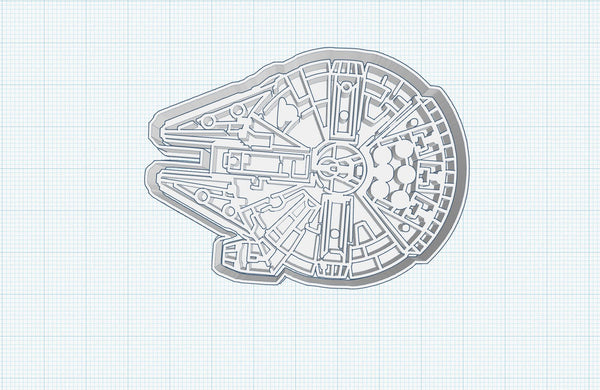 Star Star Wars-INSPIRED - Millenium Falcon - Uk SELLER Biscuit Cookie Cutter Fondant Cake Decorating