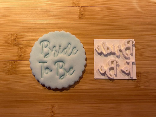 BRIDE TO BE (style 2) - Embossing - stamp