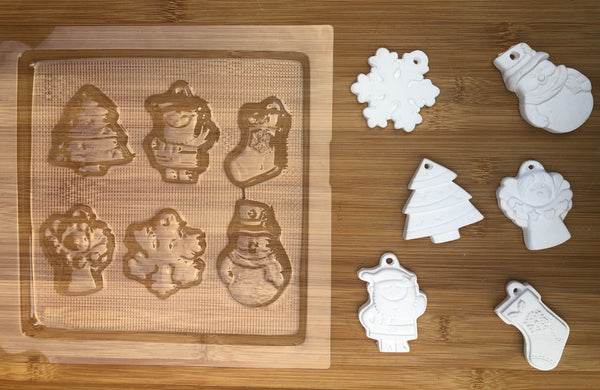 Christmas chocolate mould - 6 shapes Christmas
