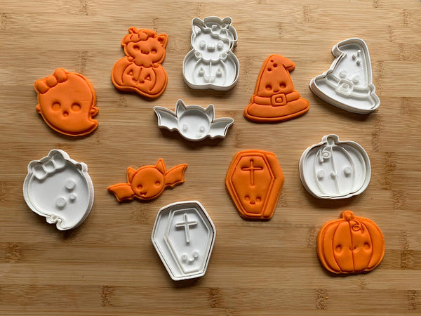 Halloween cookie cutter + stamp - collection 2020