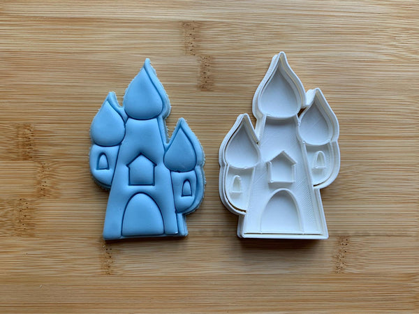 Castle - Paint Your Own - Cookie cutter + Stamp