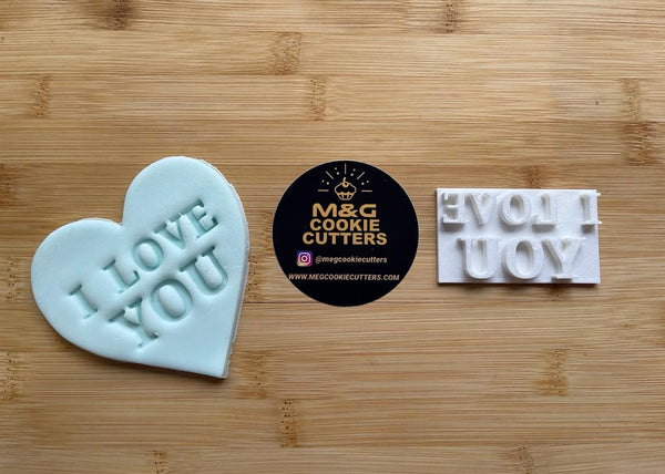 I Love You - Valentine's Day - Embossing - stamp