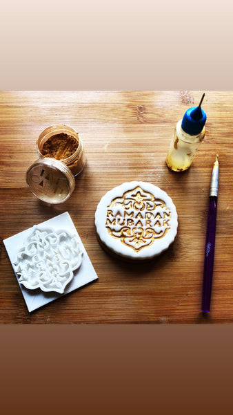 Muslim Islamic Embossing for cupcake and cake - stamps sugar paste Design Ramadan Mubarak