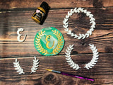 Laurel frames - Wreath - leaves - Embossing - stamps sugar paste