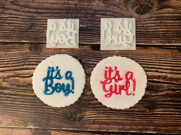 It's a Boy - It's a Girl - Embossing - stamp