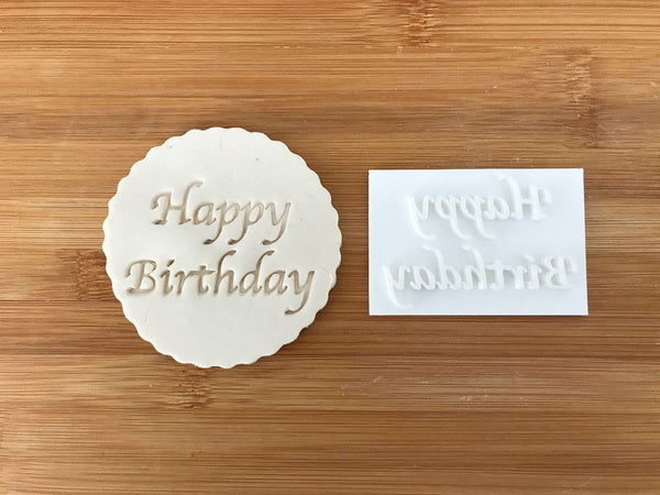 Happy Birthday - Embossing - stamp (1)