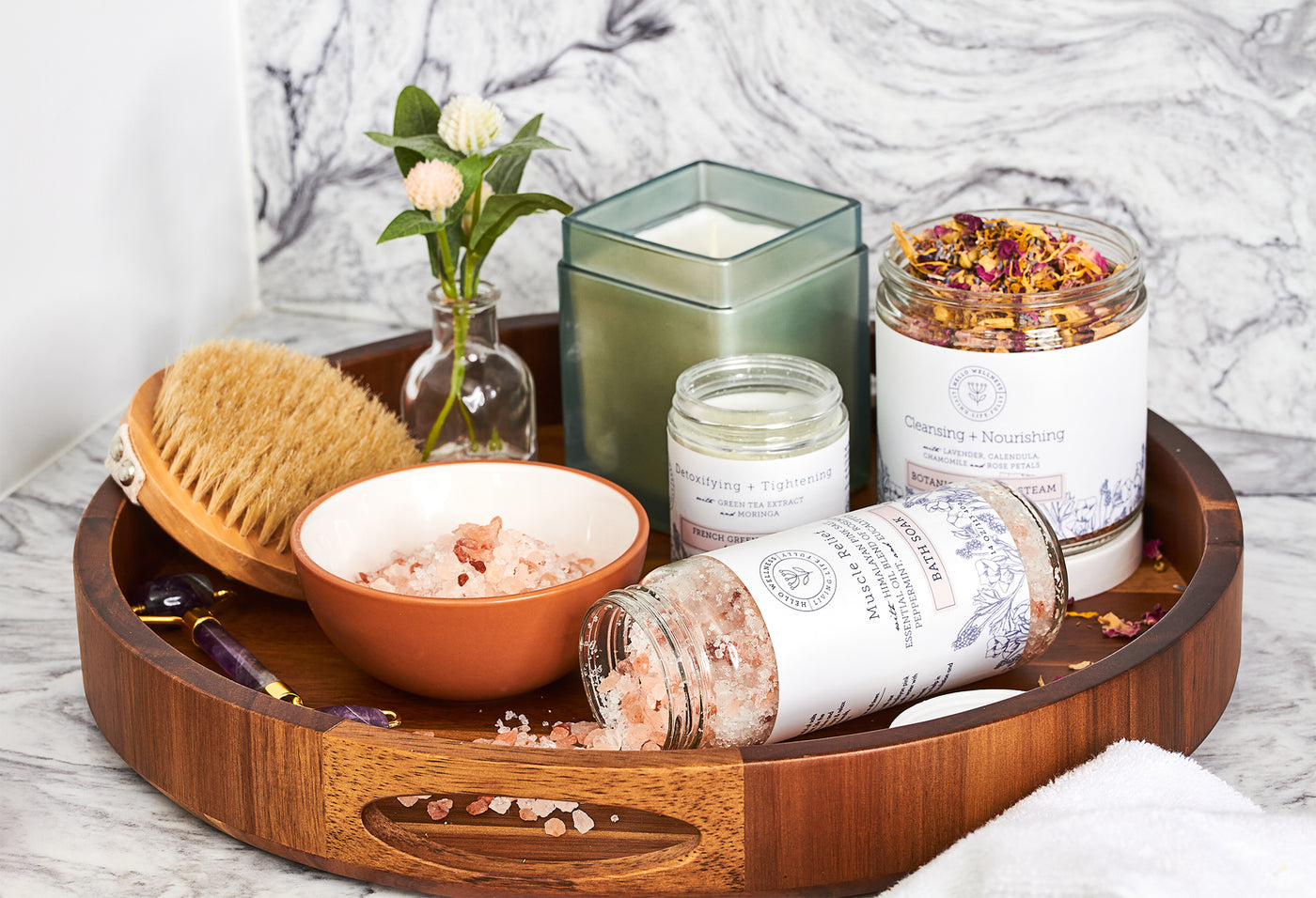 Collection of Hello Wellness Natural product for bath time