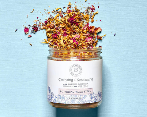 Multi-purpose Cleansing + Nourishing Botanical Facial Steam by Hello Wellness Naturals. Cleanse pores nourish hair & more.