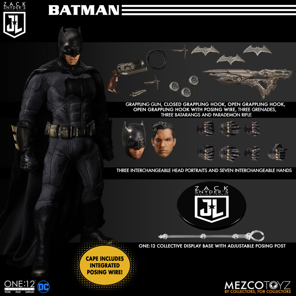 Mezco One:12 Collective Zack Snyder's Justice League Deluxe Steel Box Set FREE-SHIPPING / PRE-ORDER