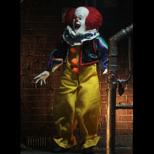 "NECA 1990 IT Movie Clothed Pennywise 8"" Action Figure"