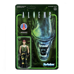 Super7 Aliens ReAction Vasquez 3.75 Inch Action Figure