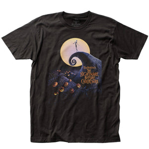 Nightmare Before Christmas Poster Black T-Shirt