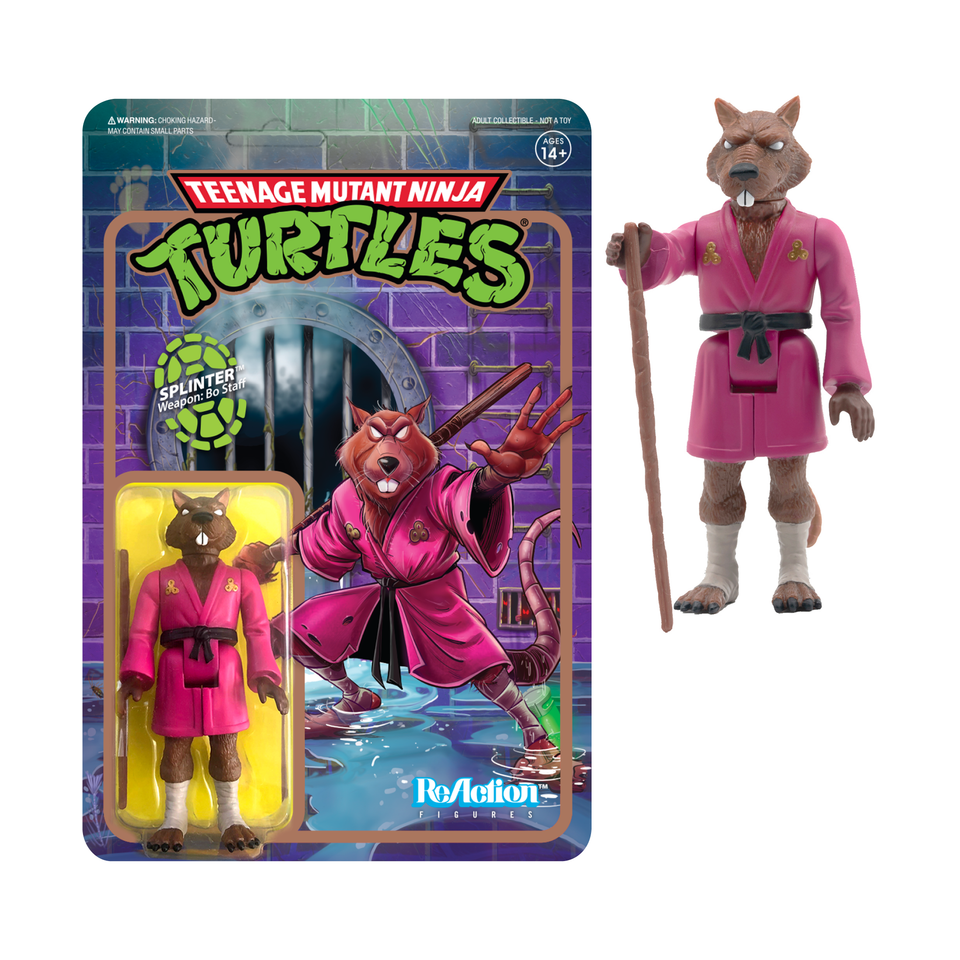 Super7 ReAction TMNT wave 2 Splinter 3.75 Inch Action Figure