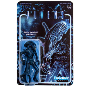 "Super7 Aliens ReAction Alien Warrior C Nightfall Blue 3.75"" Action Figure"