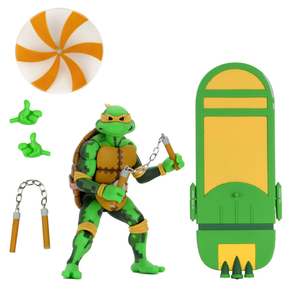 NECA Teenage Mutant Ninja Turtles Turtles in Time Series 2 Set of 4 7 Inch Action Figures PRE-ORDER