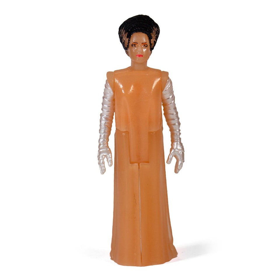 Super7 ReAction Universal Monsters Bride of Frankenstein Glow in the Dark 3.75 Inch Action Figure