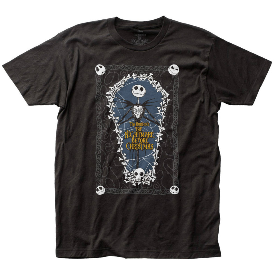 Nightmare Before Christmas Coffin Black T-Shirt