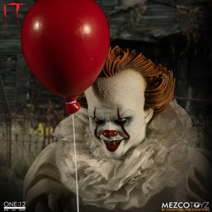 Mezco Toyz One:12 Collective It 2017 Pennywise Action Figure FREE SHIPPING