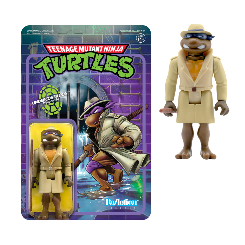 Super7 ReAction TMNT wave 2 Undercover Donatello 3.75 Inch Action Figure