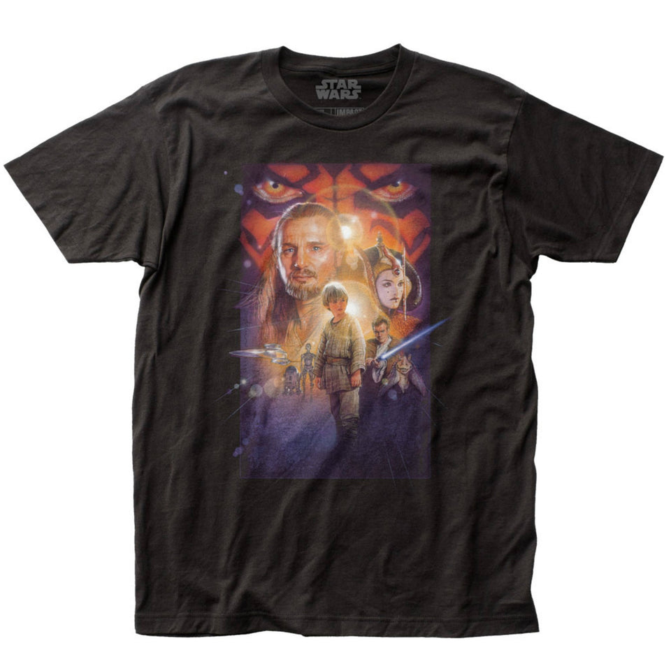 Star Wars The Phantom Menace Poster Black T-Shirt