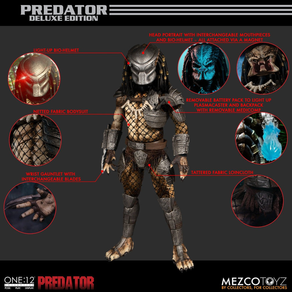 Mezco One:12 Collective Predator Deluxe Edition FREE-SHIPPING / PRE-ORDER