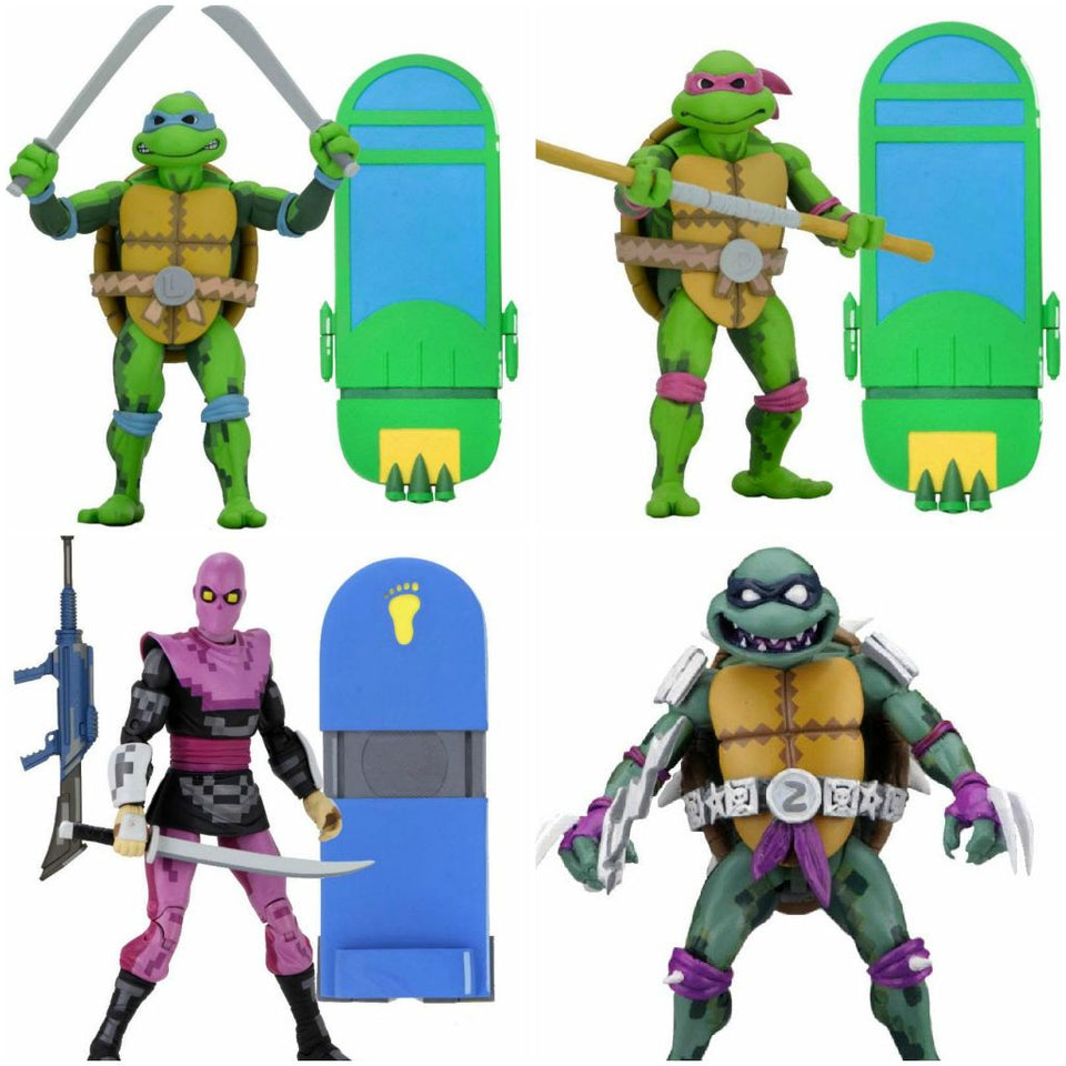 NECA Teenage Mutant Ninja Turtles Turtles in Time Series 1 Set of 4 7 Inch Action Figures PRE-ORDER / FREE SHIPPING