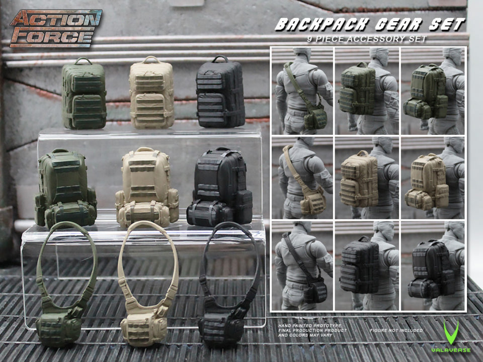 Action Force Backpack Gear Set Accessory Pack PRE-ORDER