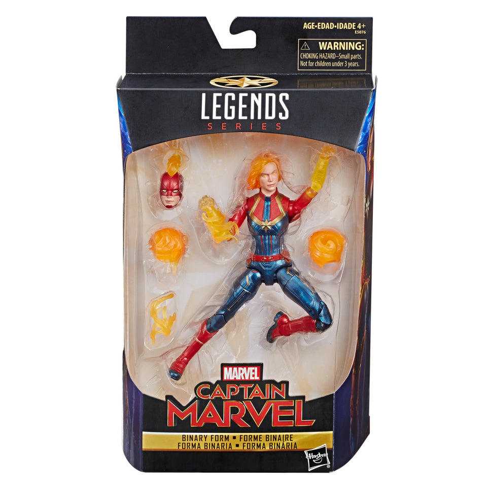Marvel Legends Exclusive Binary Captain Marvel  6 Inch Action Figure