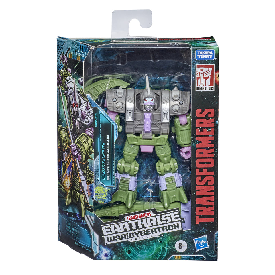 Transformers War For Cybertron Earthrise Deluxe Class WFC-E19 Quintesson Allicon Action Figure