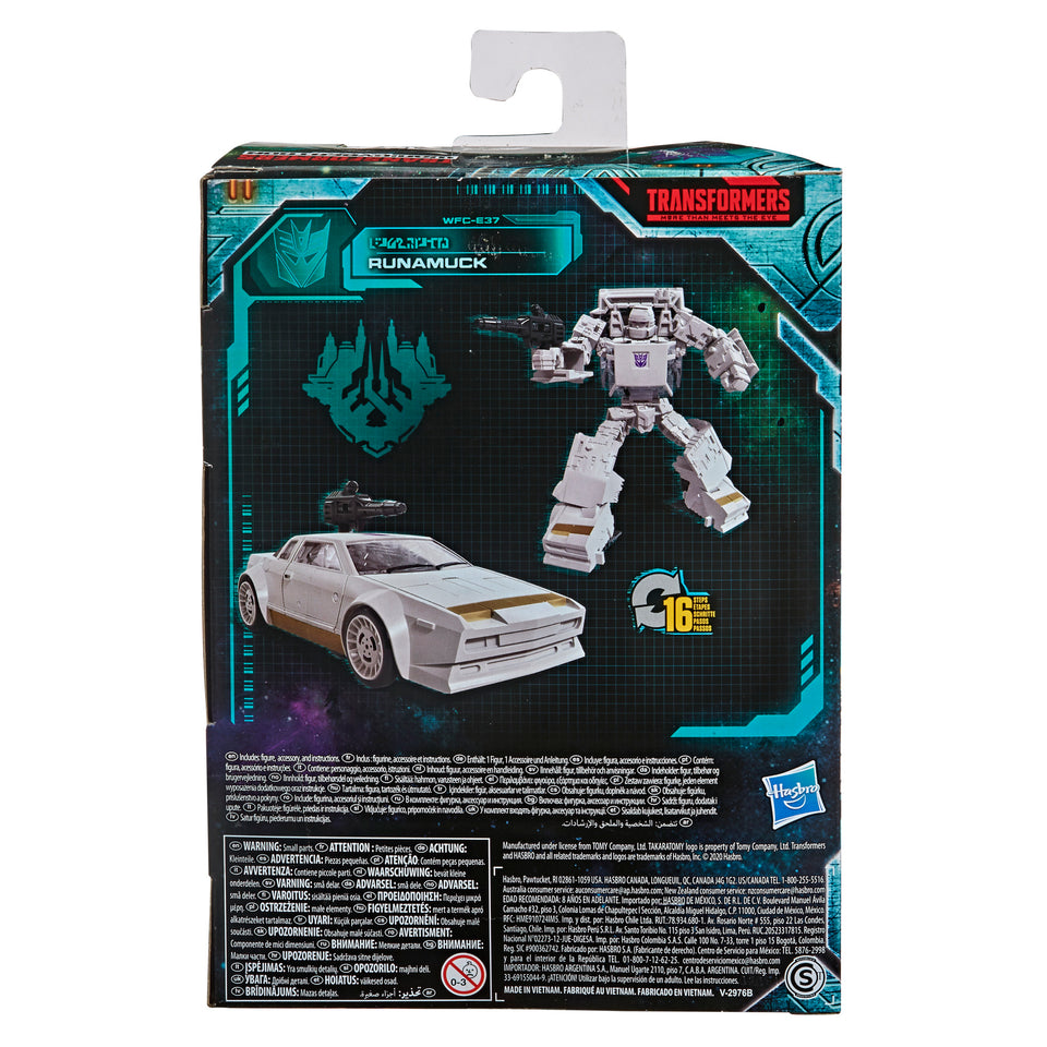 Transformers War For Cybertron Earthrise Deluxe Class WFC-E37 FAN-VOTED Runamuck Action Figure PRE-ORDER