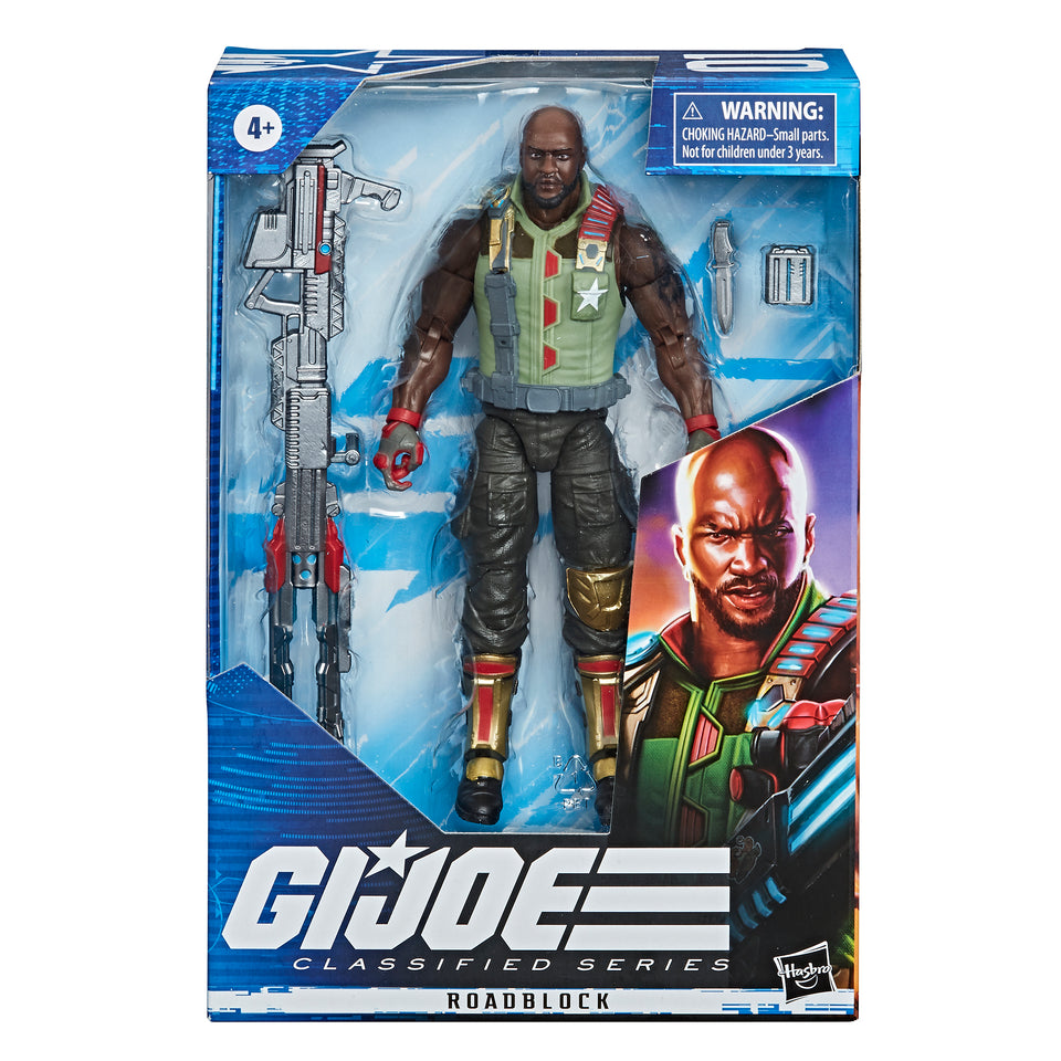 GI JOE Classified Collection Classic Roadblock 6 Inch Action Figure