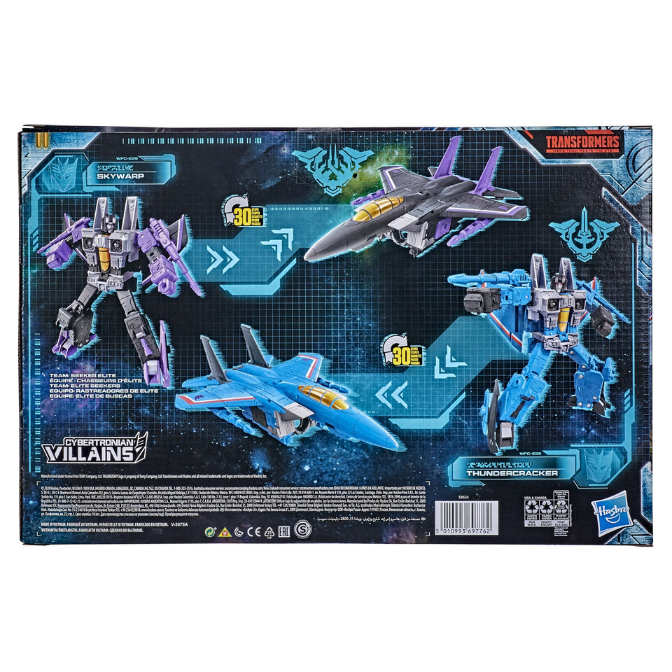 Transformers Generations WFC Earthrise Voyager Skywarp & Thundercracker Seeker 2 Pack PRE-ORDER