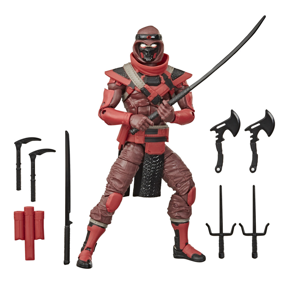 GI JOE Classified Collection Classic Red Ninja 6 Inch Action Figure PRE-ORDER