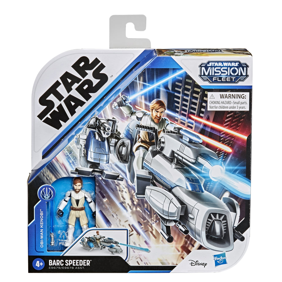 Star Wars Mission Fleet Expedition Class Obi Wan on Barc Speeder 2.5 Inch Figures & Vehicle