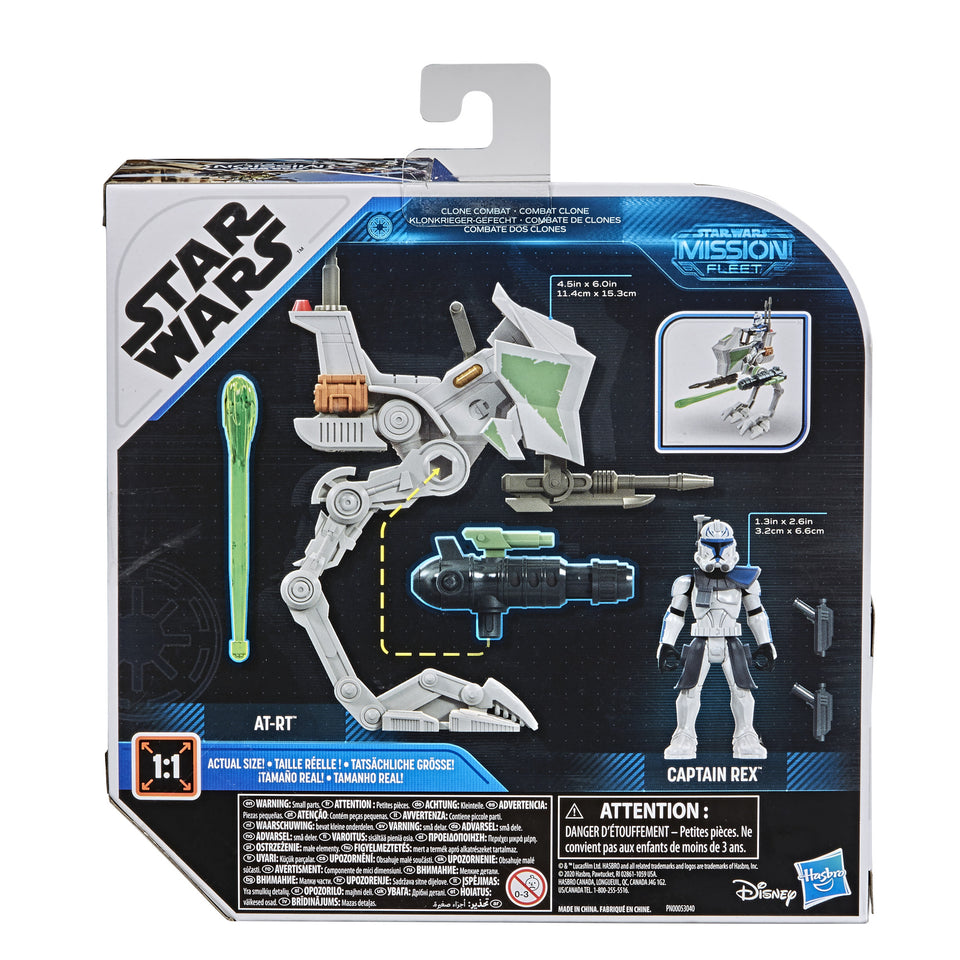 Star Wars Mission Fleet Expedition Class Captain Rex Clone Combat 2.5 Inch Figures & Vehicle