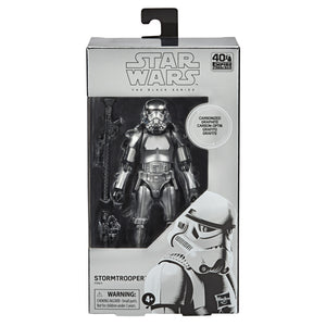 Star Wars Exclusive The Black Series Carbonized Collection Metallic Stormtrooper 6 Inch Action Figure PRE-ORDER