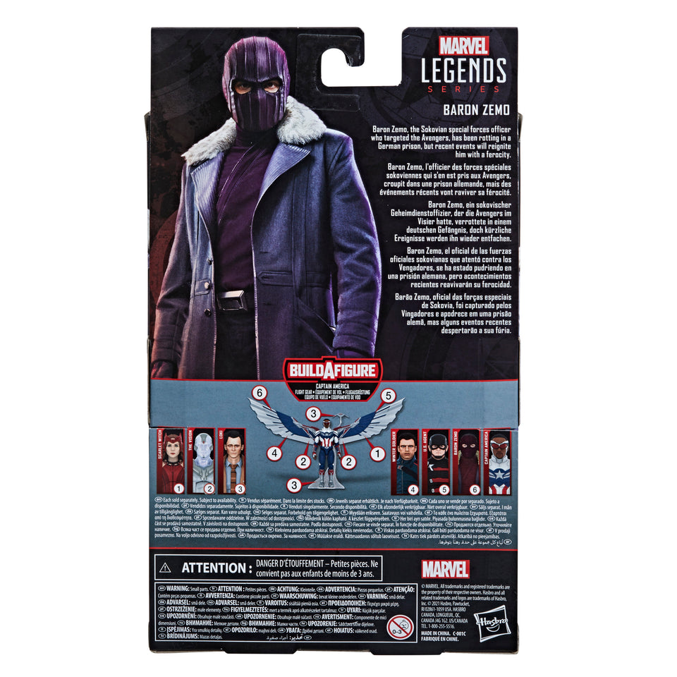 Marvel Legends Disney Plus Captain America Wave Baron Zemo 6 Inch Action Figure PRE-ORDER